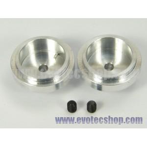 Llantas aluminio de 16,5 x 6 mm. 2 uds