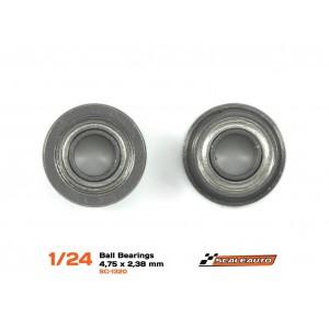 Rodamientos a bolas de 4,75 x 2,38mm (3/32)
