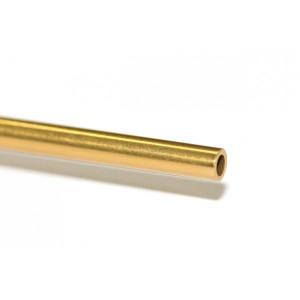 Eje 3/32x52,5 HUECO acero inox. rec.  titanio 1 ud