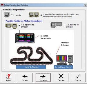 Software control de carreras Visual Slot GO