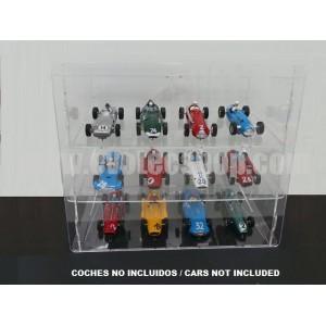 Expositor transparente 12 coches