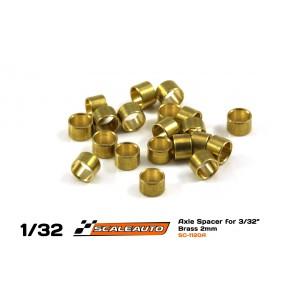 Separadores2mm paraEje3/32 en Bronce