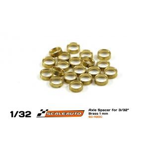 Separadores1mm paraEje3/32 en Bronce