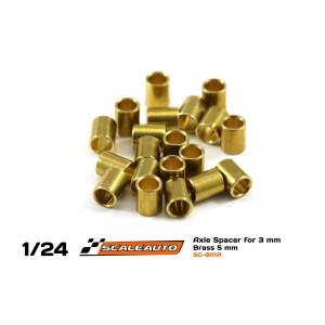 Separadores Eje de 3mm. en Bronce 5mm.