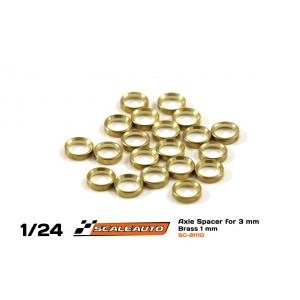 Separadores Eje de 3mm. en Bronce 1mm.