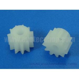 Piñon plastico 11 dientes diametro 7 mm (2 uds)