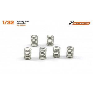 Muelles 4mm Blandos para chasis SC8003 GT3 6 uds