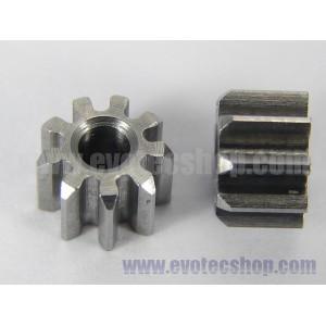 Piñones acero 9 D. en linea (x 2)
