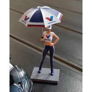 Figura Pit Babe Milla + Paraguas Valvoline