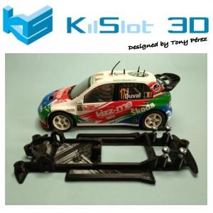Chasis 3D Lineal Skoda Fabia wrc SCX