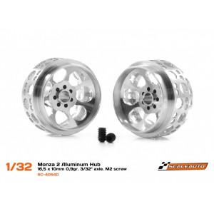 Llanta aluminio 16,5x10mm. Monza-2 para Eje 3/32