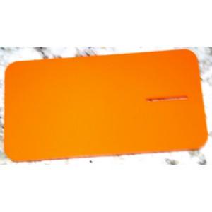 Placa plástico acrílica naranja