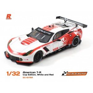 Scaleauto SC 6179A Corvette C7R GT3 Cup Edition White/Red RVersion AW