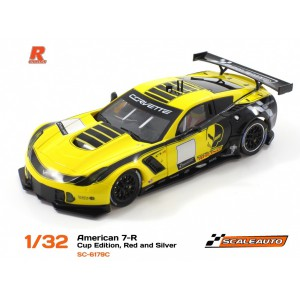 Scaleauto SC 6179C Corvette C7R GT3 Cup Ed Yellow/Black R Version AW