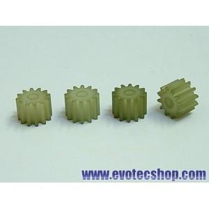 Piñones Nylon 12 dientes (x 4)