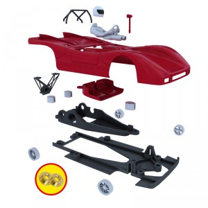 NonnoSlot C001 FIAT ABARTH 2000 Kit sin pintar y sin mecanica