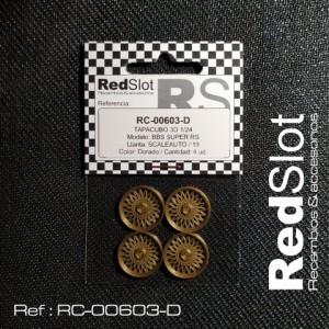 Tapacubos BBS SUPER RS p. SCALEAUTO 19 DORADO
