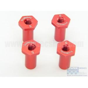 Casquillo aluminio basculacion H 6mm Rojo