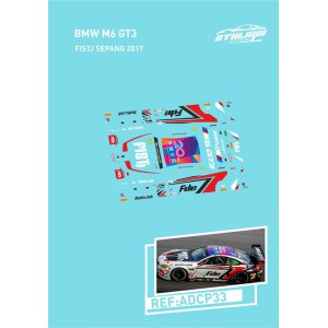 Calca 1/32 BMW M6 Sideways Sepang 2017