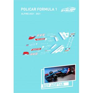 Calca Formula 1 Policar 1/32 Alpine A521 2021