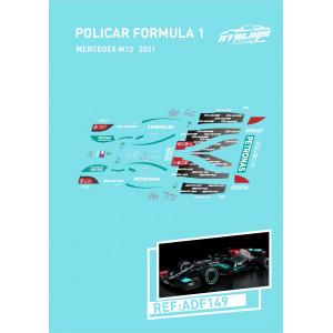 Calca Formula 1 Policar 1/32 Mercedes W12 2021