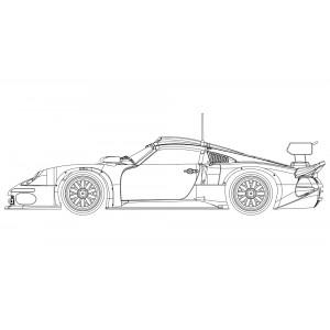 Porsche 911 GT1 5 White kit