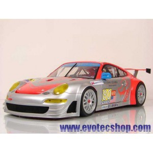 Porsche 911 GT3 Escala 1/24 RSR Flying Lizard Lemans 2009