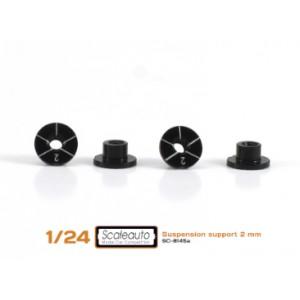 Casquillos sujección H 2mm Aluminio Non concentric