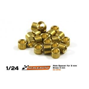 Separadores Eje de 3mm. en Bronce 3mm.