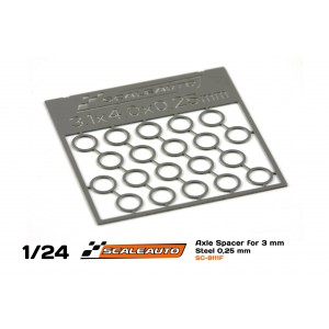 Separadores Eje de 3mm en Bronce 0,25mm Fotograbad